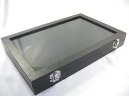 $enCountryForm.capitalKeyWord Canada - Glass Top Lid Black Velvet 12 Compartments Jewellery Display Case Box