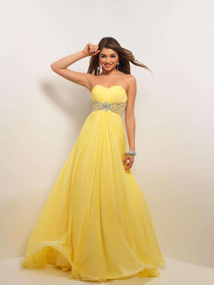 Beaded Pastel Elegance!Sexy Sweetheart Strapless Yellow Chiffon Evening Dress Party Dress Prom ...