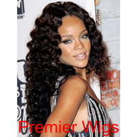 "Wholesale Elastic Hair Tie Charm - High Quality Rihanna Ispaired Free Style Charming 100% Indian Human Hair Remy Fashion Wave 10""-24"" Natural Color Lace Front Wigs"