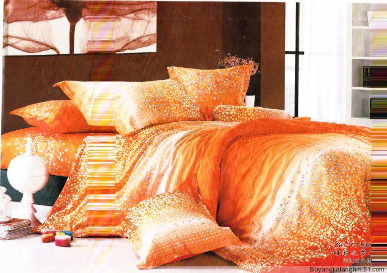Red Gold Silk Bedding Sets Interior Decorating Accessories