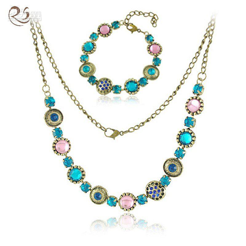 2018 s025 costume jewelry vintage necklace bracelet sets for Latest fashion jewelry trends 2012