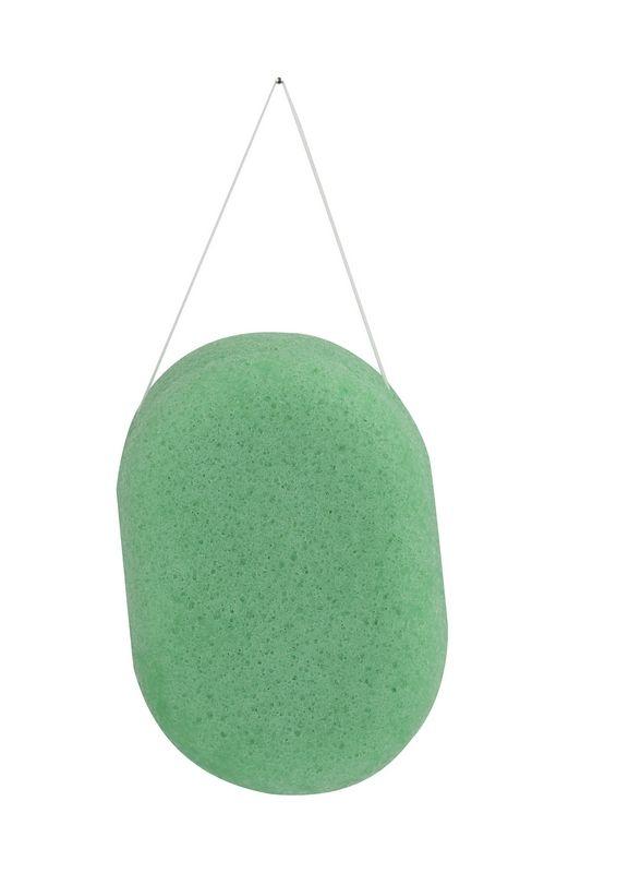 / 3 couleurs Ovale 100% Naturel Thé Vert Konjac Visage Corps Éponge Nettoyant Nettoyage Puff