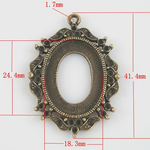 6 adet antik bronz desen jant hollow kolye kabin ayarları G802