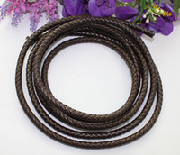 Wholesale Leather Cord Brown - 3 Meters of 8mm Brown Braided Bolo Leather Cord #22514 FREE SHIPPING