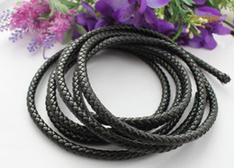 Wholesale Leather Cord Free Shipping - 3 Meters of 8mm Black Braided Bolo Leather Cord #22515 FREE SHIPPING