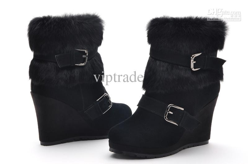 Wedge Heel Boots Fashion Ladies Boots Winter Boots Platform Pumps ...