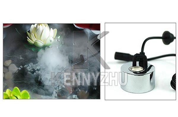 20mm tanque acuario agua fuente de estanque atomizador ultrasónico niebla humidificador humidificador + 110 - 220 V a 24V Adaptador de corriente 400ml / h