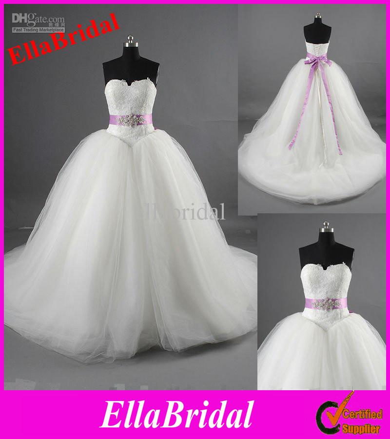 Real Photo Elegant Ball Gown Tulle Bridal Wedding Dresses With ...