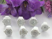 Wholesale Watch Rings Wholesale - 7pcs mixed styles rhinestone watch white elastic Finger Rings #22451