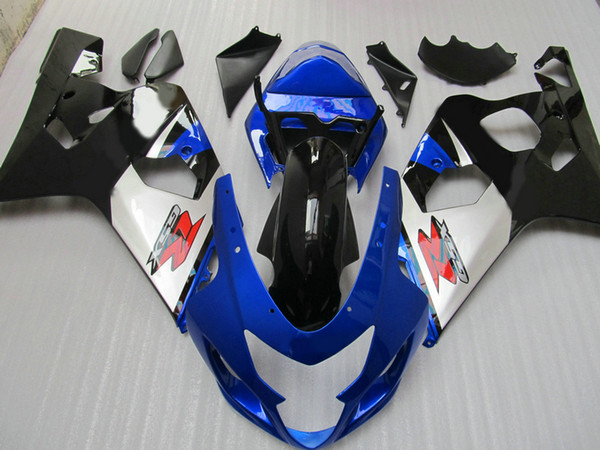 best selling ABS plastic motorcycle fairing Body kits for Suzuki GSXR 600 750 04 05 Fairing kit GSX-R600 R750 2004 2005 Blue bodywork fairings +7 gifts
