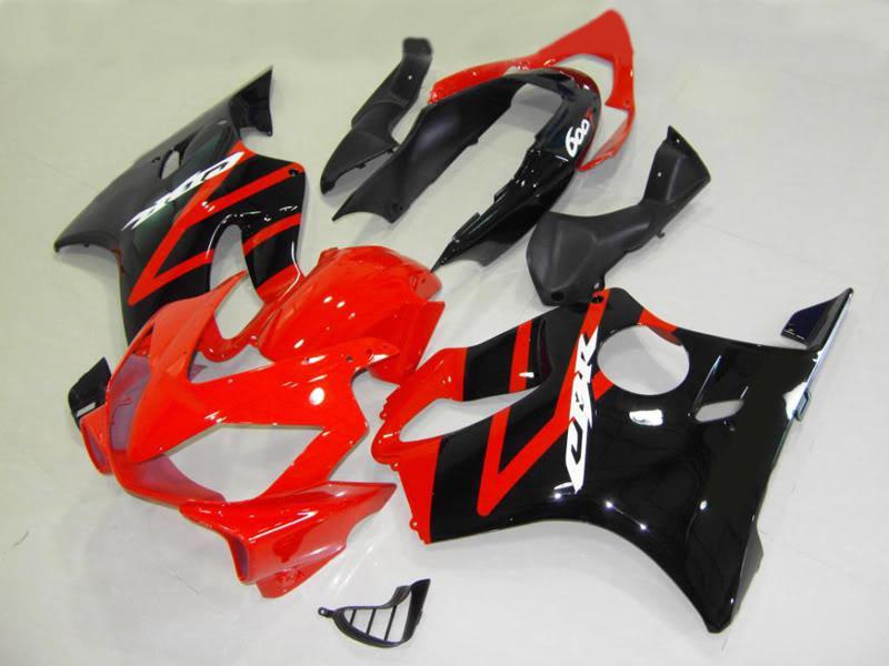 abs motorcykel fairing för Honda CBR600 F4I 04-07 Blue Fairing Kit, kan DIY någon färg F003