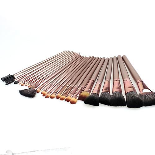 / set Top Brush Brush Synthetic Hair Brushes Nylon laine manche en bois Qualité professionnelle brosses Set Bronze poignée