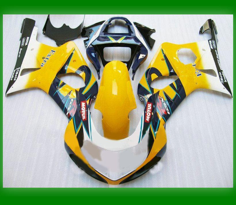 Högkvalitativ ABS för SUZUKI GSX R1000 GSXR1000 2000 2001 2002 Corona Fairing Kit med vindrutan