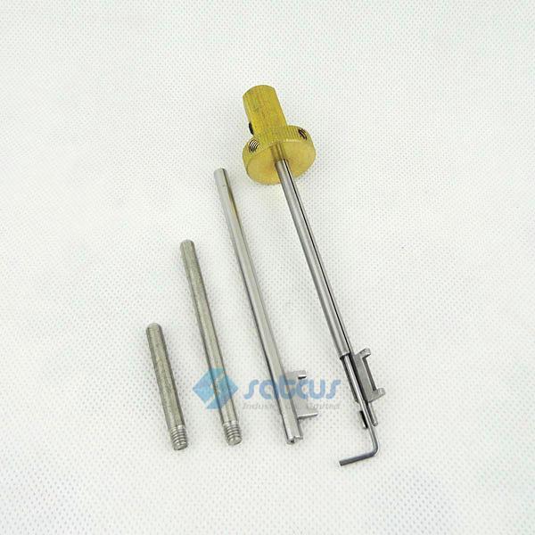 L'ouvre-porte de Jiade cinq sections de la serrure de la lame outil de serrurier de sélection