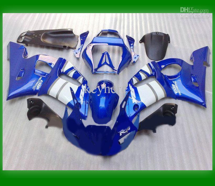 ABS Motocycle body parts R6 1999-2002 YZF-R6 99-02 Blue+white Bodywork Fairing KIT