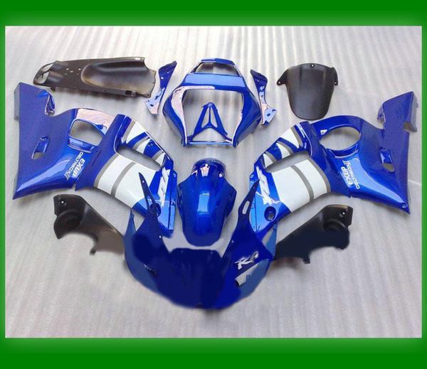 1 set ABS Motocycle body parts R6 1999-2002 YZF-R6 99-02 Blue+white Bodywork Fairing KIT