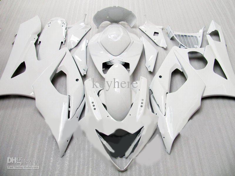Spritzgießwerkzeug Motorradkarosserie für Suzuki GSX-R1000 2005 2006 GSXR 1000 R1000 05 06 Weiß Verkleidungssatz