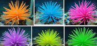 suni akvaryum mercan bitkileri toptan satış-Ücretsiz kargo Akvaryum Fish Tank Dekor Yapay yumuşak Mercan Bitki altı renkler 6 adet / grup