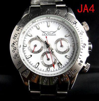 Jaragar beroemde merk casual mannen auto mechanische duik witte wijzerplaat roestvrij stalen horloge goedkope heren luxe Zwitsers horloges automatische polshorloges