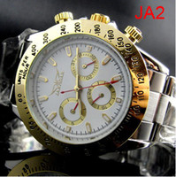 Wholesale Cheapest Silver Watch - jaragar Famous Brand Casual Men Auto Mechanical Dive White Dial Stainless Steel Watch Cheap Mens Luxury Swiss Watches Automatic Wristwatches