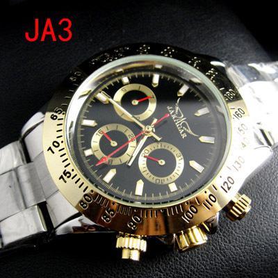 Jaragar Dive Luxury Automático Hombres Mecánico Acero Inoxidable Volver Negro Dial Mejor Reloj para Hombre