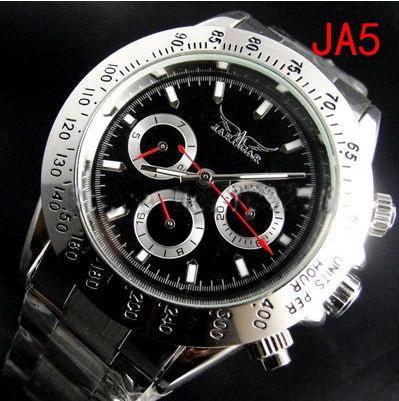 jaragar 유명 브랜드 캐주얼 남성 자동 기계 다이브 화이트 다이얼 스테인레스 스틸 시계 Cheap Mens Luxury 스위스 시계 자동식 손목 시계