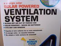 Wholesale Solar Vehicles - 5PCS SOLAR SUN POWERED POWER WINDOW FAN VENTILATOR AUTO COOL AIR VENT FOR CAR VEHICLE BA12