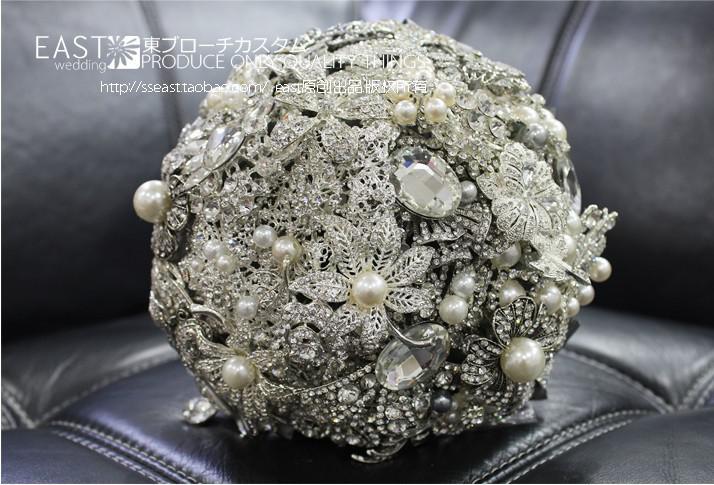 luxury crystal wedding bouquet high end custom bride