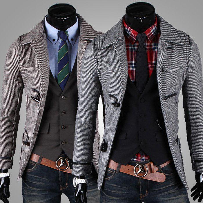 Best Trench Coat 2013 New Arrival Fashion Men Coat Slim Fit Up ...