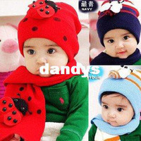 Wholesale Beatles Scarf - MT3 Hot Free shipping 100%Cotton Beatles hat baby cap children hat+scarf two piece set Toddler Boys