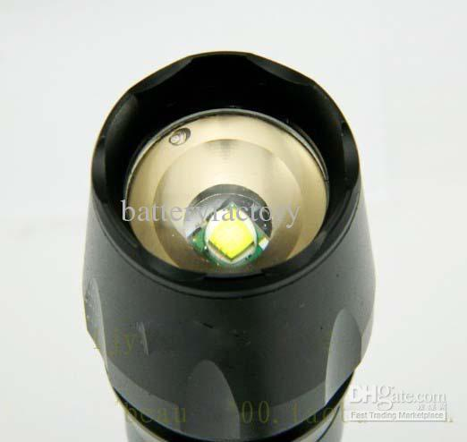 NEW 도착, 1600lumen CREE 조정 줌 XM-L T6 LED 손전등 18650 26650 토치