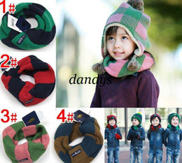 Wholesale Tartan Neck Warmer - CPAM 10pcs lot Children neck scarf baby winter knitted wraps shawl neck warmer