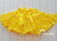 Wholesale Dress Tutu Baby Petti - Newest Baby Girl's Pettiskirt Petti Tutu Dress Bowknot Voile Chiffon Dance Dresses Shirts jessie06