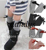 Wholesale Pantyhose Free Children - 10pairs lot girl's striped stocking tights children pantyhose knee high socks for 1-7years Free Ship
