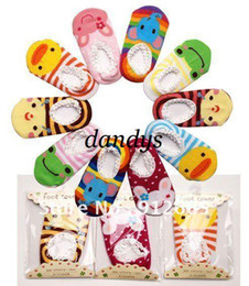 Wholesale Ankle Sock Baby Slip - 20pairs lot baby cotton anti-slip ankle socks children indoor boat socks infant booties Free Shippin