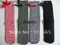 Wholesale Panty Hose Tights Girl - 20pairs lot girl striped stocking tights children panty hose knee-high socks 1-7Y Free Shipping