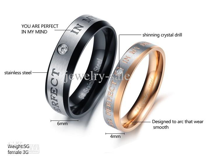 Lover BlackGold Couple Wedding Rings Stainess Steel Perfect In My