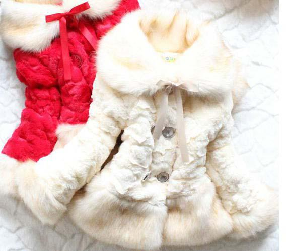 Faux Fur Coat Thick Girls Coat Outware Girls Spring Coats Toddlers ...