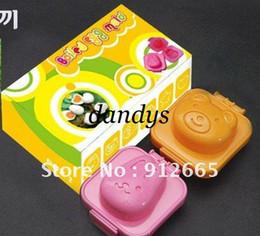 Wholesale Rice Cake Maker - 5 sets(1set=2pcs)rabbit bear sushi mould rice ball maker food mold cake mould free shipping