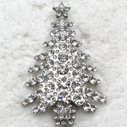 $enCountryForm.capitalKeyWord Canada - Wholesale Beautiful Brooch Crystal Rhinestone Christmas tree Pin Brooches Christmas gifts jewelry