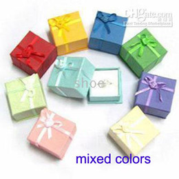 "Wholesale Jewelry Size Gift Boxes - 24pcs jewelry gift box for ring size 4cm (1.6"") * 4cm (1.6"")*3cm(1.2"") mix color"