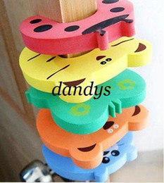 Wholesale Wholesale Child Gates - Free shipping children protection animal cartoon style door stalls door stopper Security holder lock Safety Gates