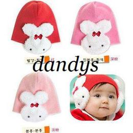 Wholesale Design Headgear - free shipping children's caps  beanie hats   headgear  baby rabbit design hat