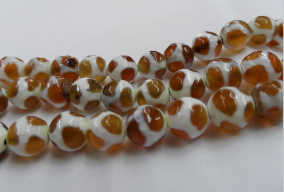 Fashion yellow pattern agate carved surface of 10 mm beads DIY jewelry accessories 76 /