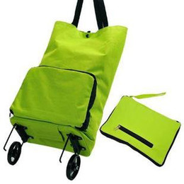 Wholesale Hot 14 Years Girls - free shippin Hot sale foldable box green shopping bag with wheels portable storage bag free shipping
