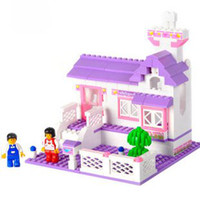 toy cabin prices - Candice guo! Building blocks set jigsaw puzzle honey cabin educational plastic toy with fancy assemb