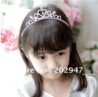 Wholesale Crystal Hair Stick Mix - MIX order girls' crystal crown hairband headband children Hair Accessories free shipping wholesale