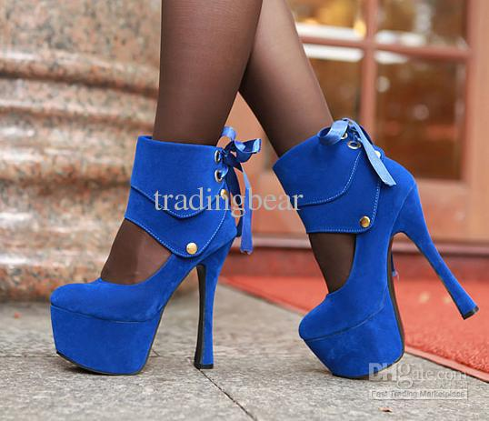 bbcce43912a Royal Blue Noble Sexy Club Party Wedding 2 Ways Platform High Heels Strappy  Shoes Size 34 Flat Shoes Online Clothes Shopping From Tradingbear