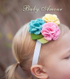 Hot 20pcs Baby Amour Baby Fasce stereoscopiche Flower Hair Band Girl 12 stile scelta da