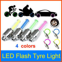 Wholesale Flash flashing fire flys LED Tyre Light Car Bicycle Bike Tyre Wheel Valve sealing Cap Stem